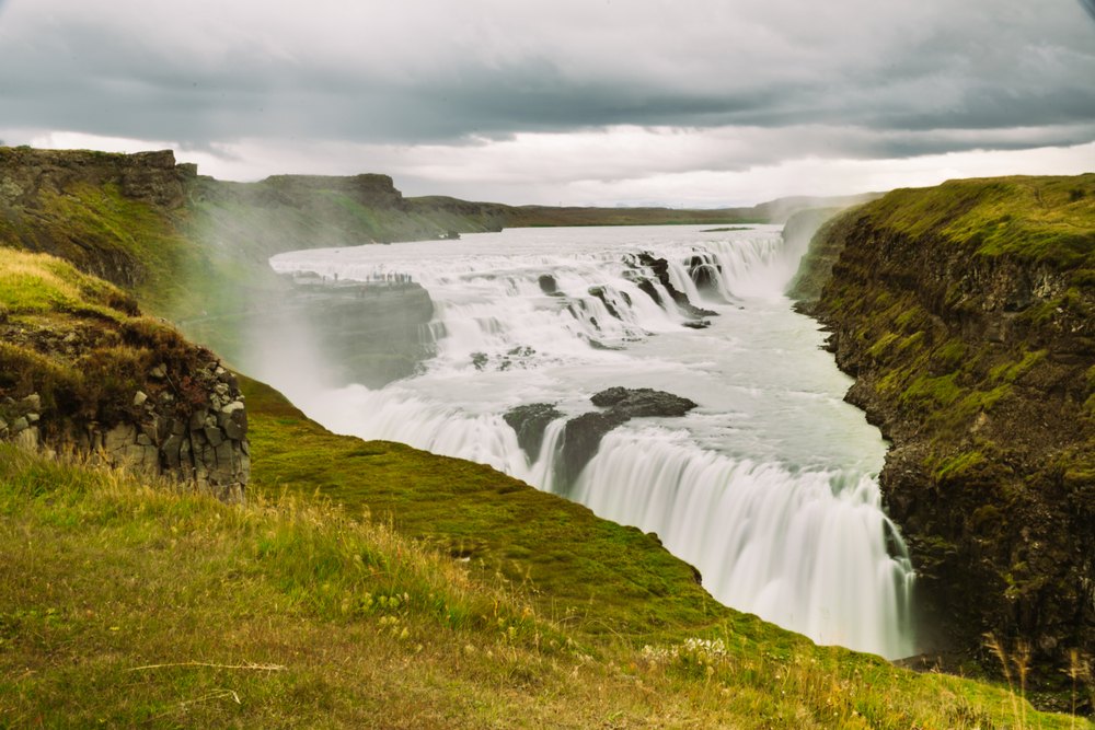Gullfoss waterfall in Iceland along the Golden Circle route